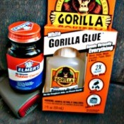 Glue used to repair a saggy headliner in a car.