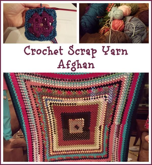Crochet Afghan Pattern Maker : Making a Crochet Scrap Yarn Afghan ThriftyFun