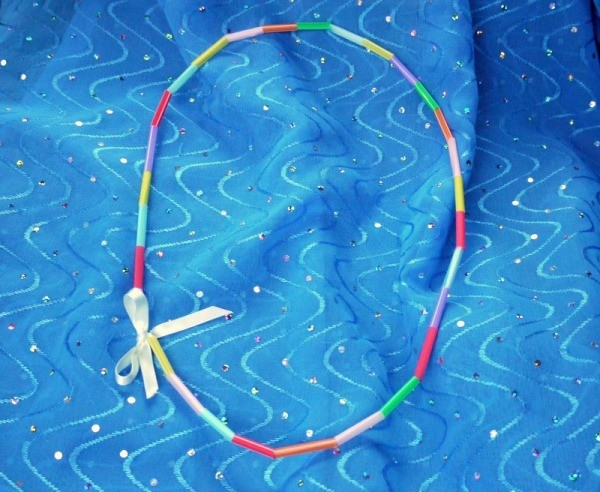 Child's Drinking Straw Necklace