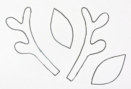 Reindeer antlers template for Template for reindeer antlers