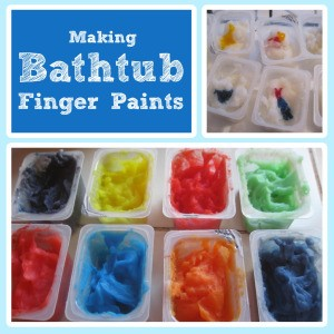 Making Bathtub Finger Paints