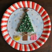 Making a Paper Plate Christmas Collage Teaser