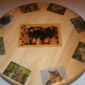 lazy Susan with photos