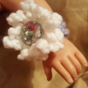 Crocheted Wrist Corsage for American Girl Doll