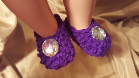 Crocheted Slippers for American Girl Doll