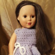 Crocheted Dress for American Girl Doll