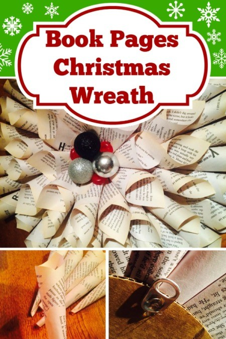 Making a Book Pages Christmas Wreath