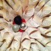 Making a Book Pages Christmas Wreath Teaser