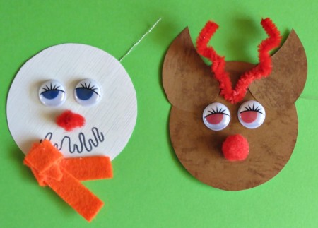 Reindeer and Snowman Gift Tags