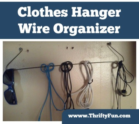 Making a Clothes Hanger Wire Organizer