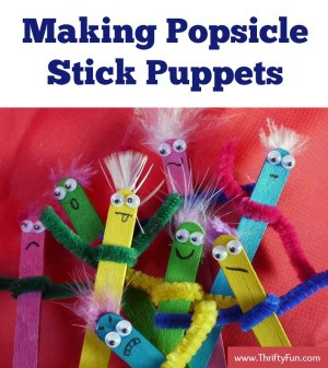 Making Popsicle Stick Puppets