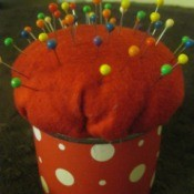 No-Sew Tin Can Pincushion