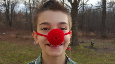 Crocheted Clown Nose