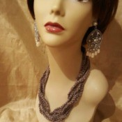 closeup of necklace on mannequin