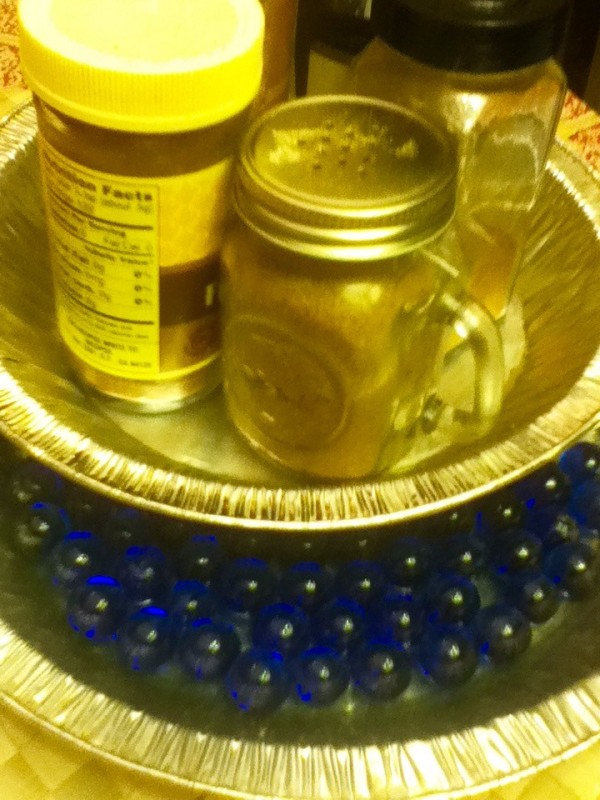 DIY Lazy Susan with Marbles