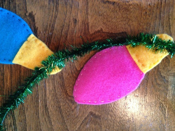 Making a Felt Christmas Light Garland