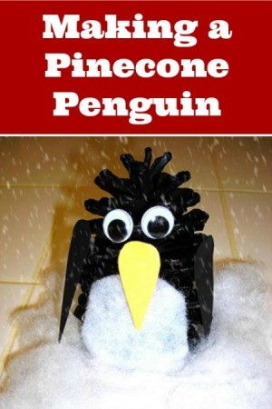Making a Pinecone Penguin