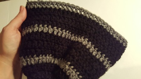 Men's Crocheted Skull-Cap