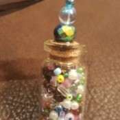 Message in a Bottle Pendant - add jump ring to head pin