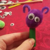 Marker Cap Finger Puppets - with pipe cleaner antenna
