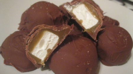 Chocolate-Covered Caramallows