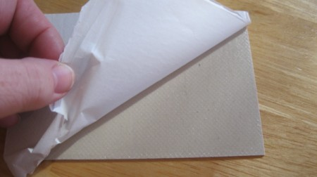 remove paper from self stick tile