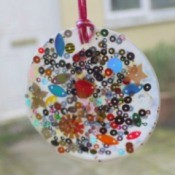 Glue and Sequin Sun Catcher