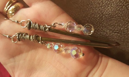 Making Steampunk Nail Earrings