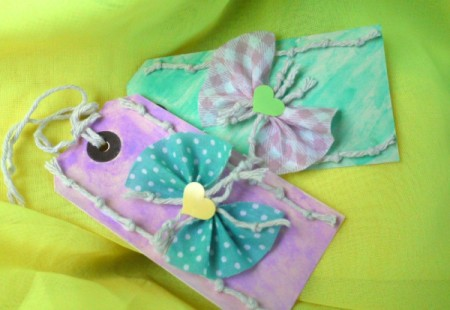 Shabby Chic Gift Tag - two gift tags