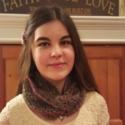 teen wearing scarf