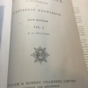 Value of 1897 Chambers's Encyclopedia