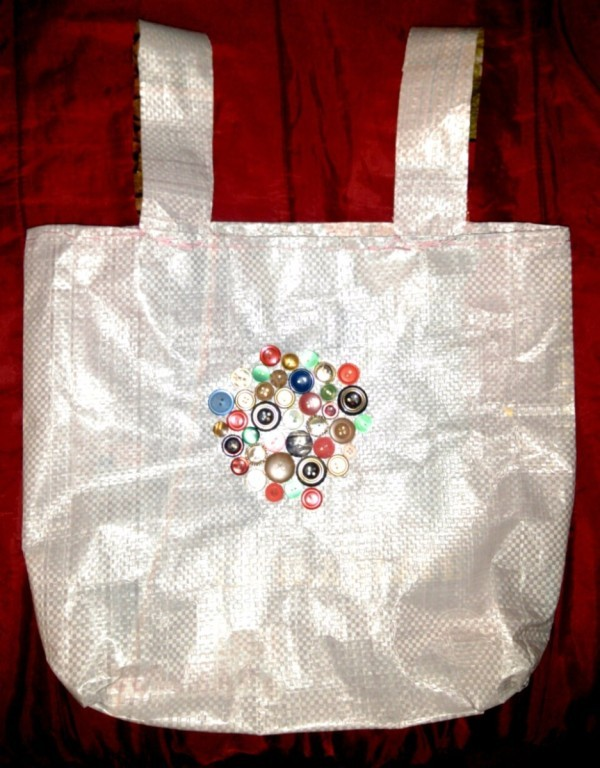 Tote Bag Made from a Dog Food Bag