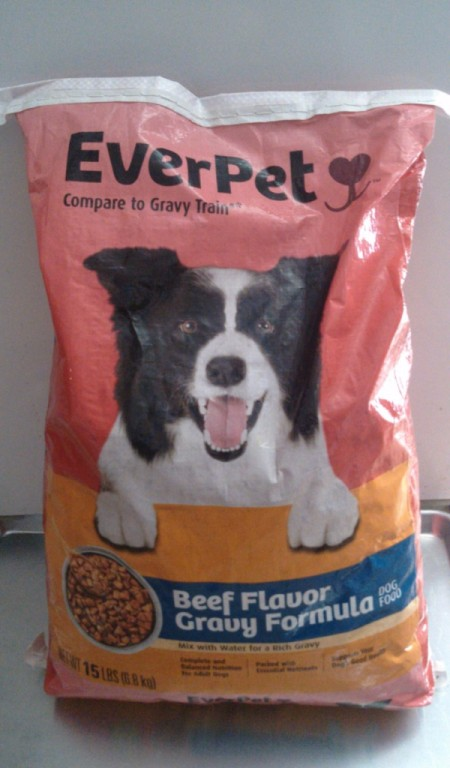 bag of EverPet dog food