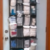 shoe organizer for medical supplies