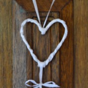 finished heart hanging decor