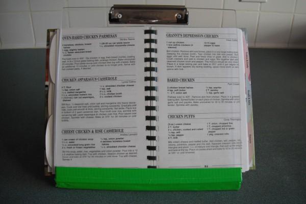 Homemade Recipe Book Holder Thriftyfun