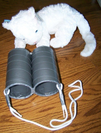 Three Easy Crafts For Boys - finished binoculars
