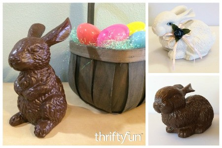 Making Faux Chocolate Bunnies