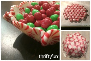 Making a Peppermint Candy Bowl