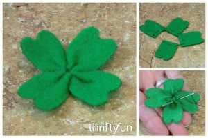 Making a Felt Shamrock Pin