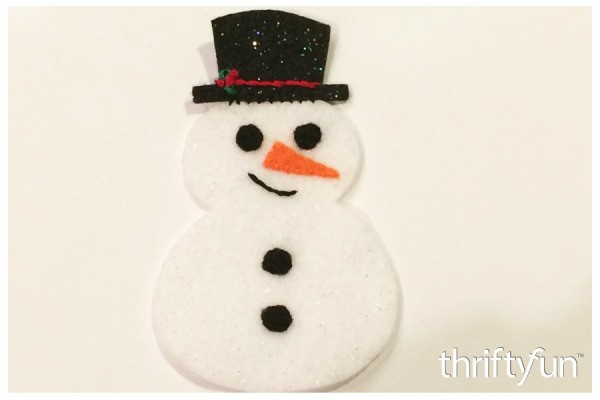 Making a Felt Snowman Ornament