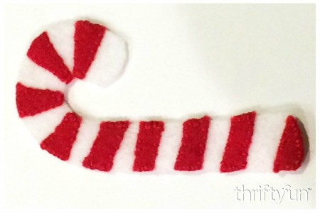 Making a Felt Candy Cane Ornament
