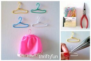 DIY Paper Clip Barbie Hangers