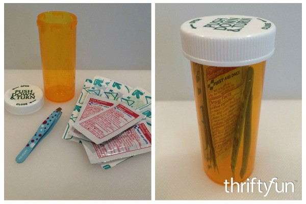 Making a Pill Bottle First Aid Kit