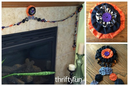 Making a Halloween Yo Yo Garland