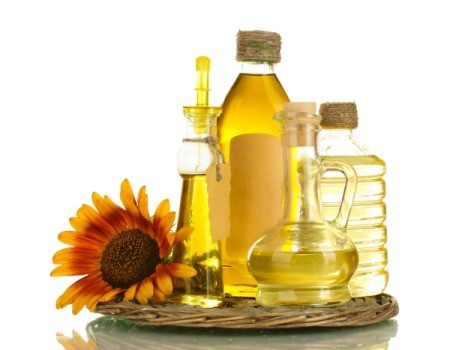 Different types of cooking oil.