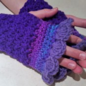 Purple Passion Crochet Fingerless Gloves