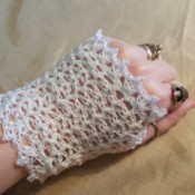 Wrist Length Lace Bridal Gloves