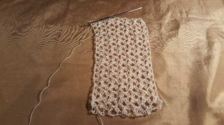 Time For Tea Lace Gloves - nearly complete