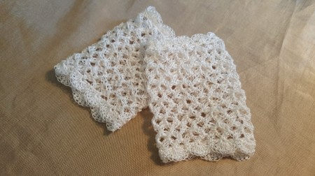 Time For Tea Lace Gloves - two lace gloves completed